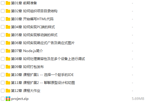 42套WEB前端HTML5,CSS3,VueJS,AngularJS,NodeJS,ReactJS,Bootstrap,Webpack,响应式开发,组件式开发,全栈架构,高级项目,实战视频教程插图(55)