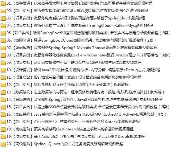 58套java架构师大型分布式企业级项目实战java开发进阶教程学习培训下载插图(1)